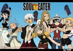 Soul eater. I like how blackstar and Tsubaki matched before