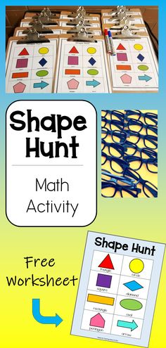 Take learning outside the classroom with this Shape Hunt for kids. Using hands-on shapes activities make math meaningful. #shapesactivities #shapespreschool Shape Worksheets For Preschool, Kindergarten Math Activities, Kids Learning Activities, Kindergarten Classroom, Fun Learning, Geometry Activities, Teaching Shapes, Outdoor Education, Math Journals