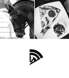 Designer Cleverly Creates Brand Logos By Combining Two Elements – UltraLinx Design Ios, Branding Design, Ci Design, Flat Design, Designers Gráficos, Logo Desing, Design Thinking, Horse Logo, 2 Logo