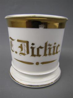 T. Dickie personalized shaving mug