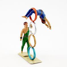 """l'acrobate sautant dans les anneaux (ref. CBG 8022-116) - collection """"le Cirque"""" - création été 2017 Creations, Park, Collection, Parks"""