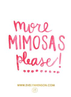 More Mimosas Please 8.5 x 11 Bar Cart Print by EvelynHenson