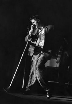 Elvis performing at the Florida Theatre in Jacksonville, August 10, 1956. Photo by Robert W. Kelley.