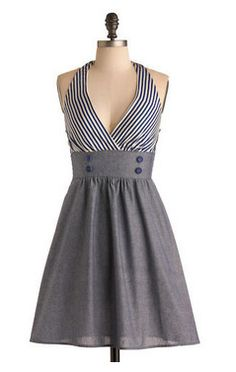 Dockside Darling Dress - M