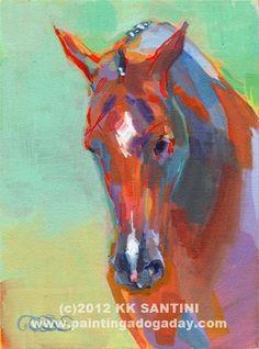 "Daily Paintworks - ""Sal"" - Original Fine Art for Sale - © Kimberly Santini"
