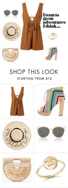 """""""Untitled #37"""" by nerdygets on Polyvore featuring Jerome C. Rousseau, August Hat, Christian Dior, Cult Gaia and Bing Bang"""