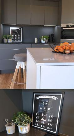 """Plakat do kuchni """"Przelicznik kuchenny"""" #kitchen #modern #gray #kuchnia #szara #nowoczesna #dekoracjedokuchni #plakatdokuchni #plakatkuchenny"""