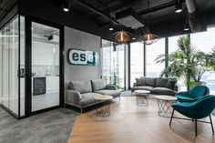 ESET, a global cybersecurity company that develops anti-virus and firewall products, recently opened a new office in Krakow, Poland, which was designed by Corporate Office Design, Modern Office Design, Office Interior Design, Office Interiors, Office Designs, Office Ideas, Corporate Offices, Modern Offices, Loft Office