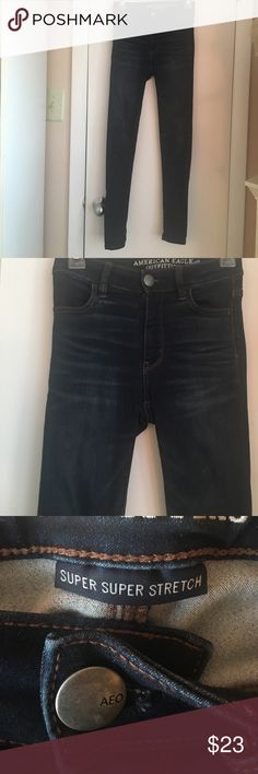 Blue jeans Super super stretch hi-rise jeggings. Great shape American Eagle Outfitters Jeans