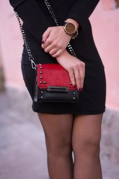 red horsehair purse