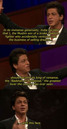 Savagery @ his own face. 20 Times Shah Rukh Khan Was Savage To Friends, Fans, Family, And Shah Rukh Khan Quotes, Shah Rukh Khan Movies, Shahrukh Khan, Motivational Movie Quotes, True Quotes, Inspirational Quotes, Bollywood Quotes, Bollywood Actors, All India Bakchod