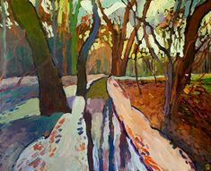 Woods Near Horsham by Robert Hofherr - acrylic painting | UGallery Horsham, Culture Shock, Welcome To The Party, Dose Of Colors, Kind Words, Light And Shadow, All Art, Wrapped Canvas, Woods