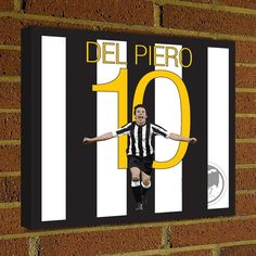 Juventus Alessandro Del Piero Square Canvas Wrap Art Print -  Juventus Soccer Poster wall decor home decor, Del Piero print, Italy poster by Graphics17 on Etsy