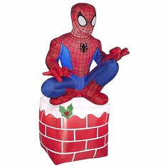 Christmas Inflatable Outdoor Airblown Spider Man For Holiday Decoration (12')  #AirblownInflatables