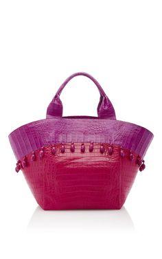 Pink Beach Tote Bag by NANCY GONZALEZ for Preorder on Moda Operandi