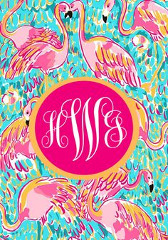 Lilly Pulitzer Peel and Eat inspired monogram iPhone background or wallpaper  from Elle-O-Font #lillypulitzer #preppy #monogram