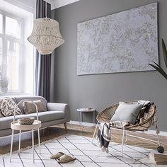 Decoración de interiores y exteriores, decora tu casa - HOLA Interior Exterior, Entryway Bench, Living Modern, Furniture, Home Decor, Landscape, Interior Paint, House Decorations, Grey Carpet