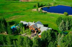 A very private 30 acres and one of the best view properties in Aspen encompassing the Elk Mountain Range from Aspen to Sopris, a large pond and plenty of water rights. The home was designed by Robert Couturier with a thoughtful floor plan that takes advantage of the amazing setting. Aspen, CO Coldwell Banker Mason Morse Real Estate