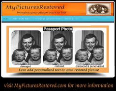 MyPicturesRestored's photostream from Flickr See a few examples of my work!