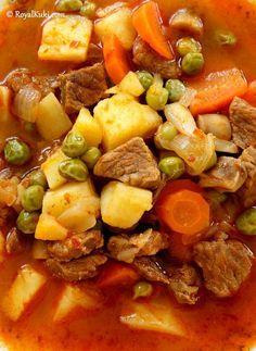 Etli Patatesli Bezelye Yemeği Detaylı tarif