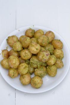 tillipesto ja uudet perunat - dill pesto and new potatoes