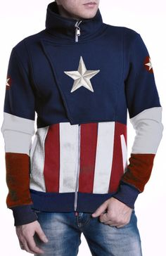 Hoodie Captain America by PertlyBeast on Etsy Captain America Outfit, Captain America Comic, Nerd Merch, Moda Pop, Marvel Clothes, Marvel Cosplay, Cool Hoodies, Cool Outfits, Shirt Designs