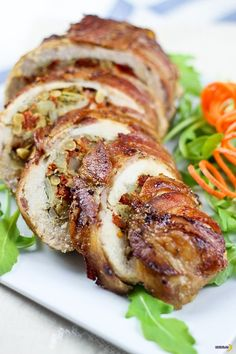 Fabulous Food Recipes - Bacon Wrapped Chicken Breasts - maybe not a good dish for vegetarians, but a great one for meat lovers!