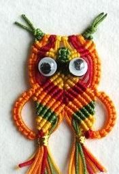 DIY Crafts : DIY owl with polyester cords
