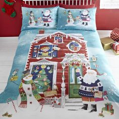 christmas waiting for santa quilt cover sets and bedding sets in a new range of festive designsall sizeswe have something for all ages