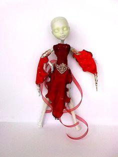 Mostro alta vestiti, fatto a mano, Mh outfit, mh clothes, abito per mostro bambola, Vestiti per bambola Mostro, vestito fantasy