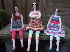 Tilda sisters. Patroon is van Inge's Creaties