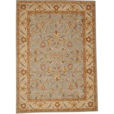 Herat Oriental Indo Hand-tufted Isfahan Light Green/ Rug
