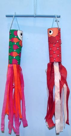 Japan. Make a Carp Streamer for Children's Day (May 5). Template and directions at DLTK