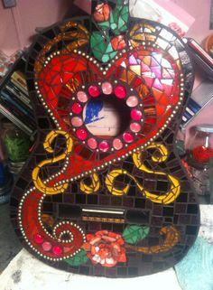 Mosaic Guitar by PamelaMakesStuff on Etsy, $600.00