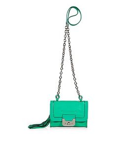 Diane von Furstenberg Mini Harper Bag with Chain Strap in Jade