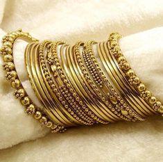 Fulfill a Wedding Tradition with Estate Bridal Jewelry Silver Bangle Bracelets, Bangle Set, Silver Jewelry, Thread Bangles, Bridal Bangles, Bridal Jewelry, Stylish Jewelry, Fashion Jewelry, Chuda Bangles
