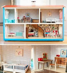 60s dollhouse. I had a metal dollhouse that I cut myself on every other day..Loved that thing!!!!