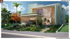 Planta de Sobrado - 3 Quartos - 278.51m² - Monte Sua Casa