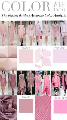 Trend Council: COLOR FW 15/16 - Blush, Pink Dust, Mauve, Bubblegum |╰☆╮ZPeacocks...╰☆╮|