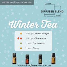 Winter tea diffuser blend.  Comforting and warmer. mmmmmm www.caitlinfitzpatrick.com.au