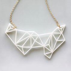 Handmade Gifts | Independent Design | Vintage Goods Geometric Prisms Necklace - Ivory - i love her!
