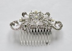 Pearl Design Bridal Hair Accessories Crystal by TheHeartLabel