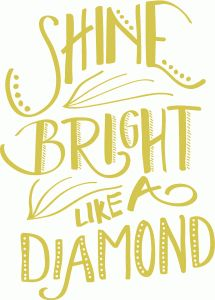 Silhouette Design Store - View Design shine bright like a diamond Silhouette Images, Silhouette Portrait, Silhouette Projects, Silhouette Design, Silhouette Cameo, Cool Wall Art, Echo Park Paper, Scan And Cut, Cricut Creations