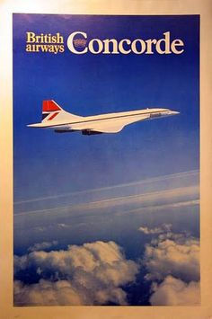 British Airways Concorde Promotional Classic Travel Poster