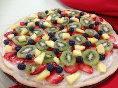 Fruit pizza #recipe #SnackMadness