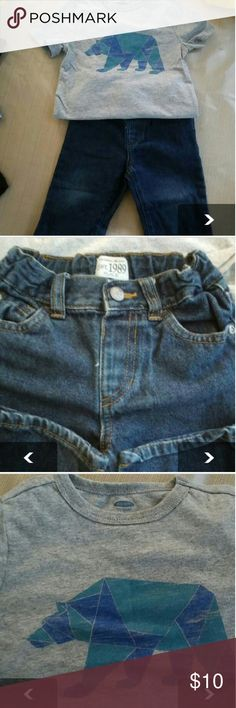2T shirt n jeans Old navy 2T shirt Est.1989 place 18/24month Other