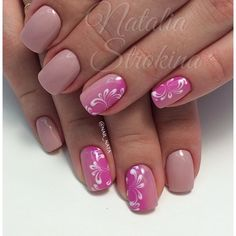 3d nails, Combined nails, Dimention nails, Everyday nails, Festive nails, Manicure for middle fingers, Nail design, Ombre nails