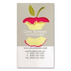 dietitian business cards