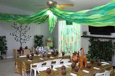 Jungle safari party games and decorations