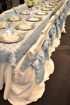 Cinderella Party Table - When we renew our vows our wedding party should sit at a table like this.
